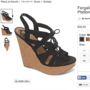 Fergalicious Sandal Wedges- Size 9